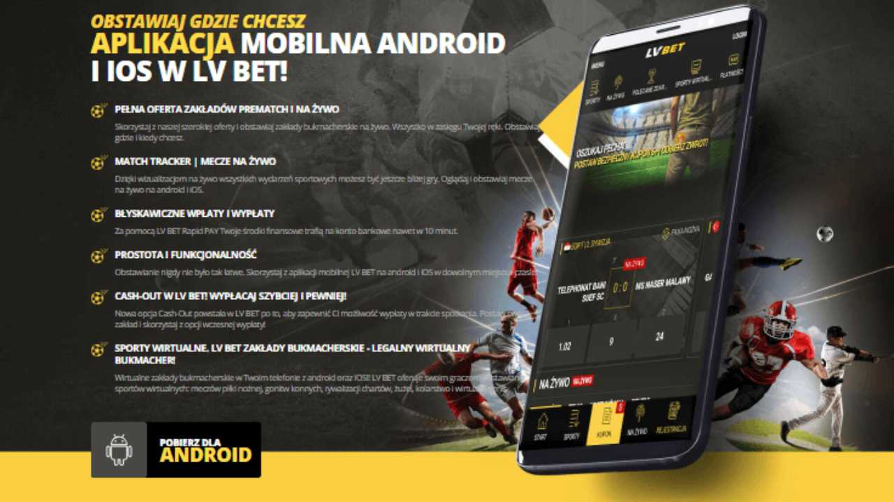 aplikację LVBET mobile
